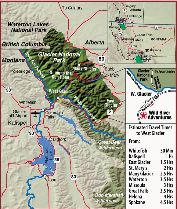 Directions to Wild River Adventures - Wild River
